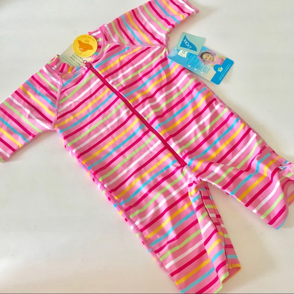 ae73741a I Play Swim   Iplay One Piece Sun Suit Pink Stripe 1218m   Poshmark